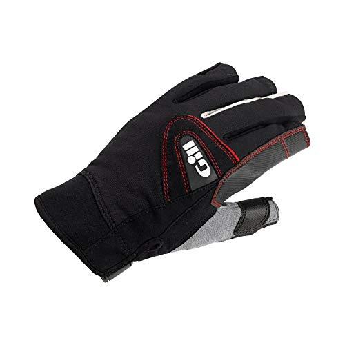 Gill Men's 7242 Short Finger Champion Sailing Glove, Black, Medium