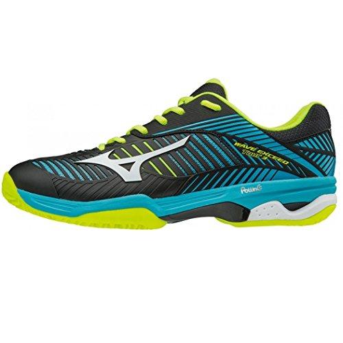 Mizuno Hombre Wave Para Exceed Bleu noir Cc Tour blanc De Tenis Zapatillas 8rrwU