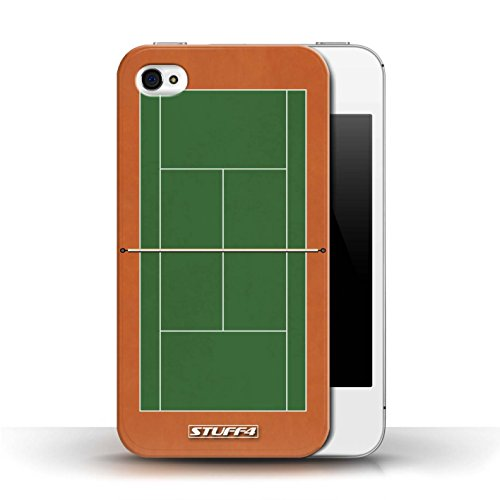 Kobalt® protector duro de nuevo caso / cubierta para el Apple iPhone 4/4S   Cancha de arcilla verde Diseño   Canchas de tenis colección