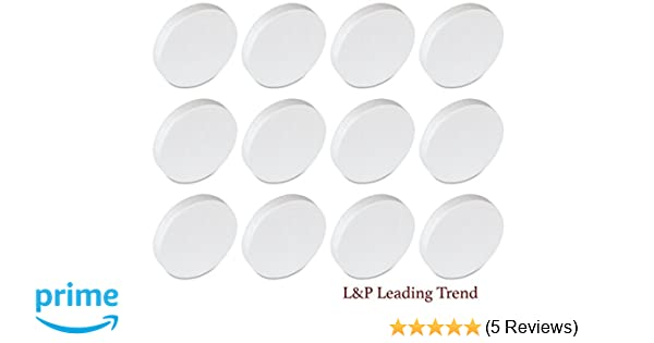 Charmed 6 inch 6x1 Inch Smooth Foam Craft Disc 12 Pack