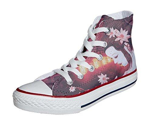 Converse Customized Chaussures Personnalisé et imprimés UNISEX (produit artisanal) Geisha Conver - size EU46