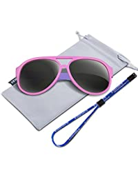Polarized Kids Sunglasses For Boys Girls Child Rubber...