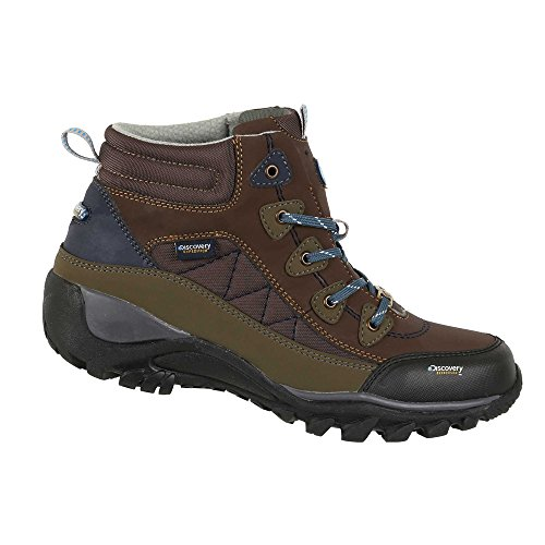 Discovery EXPEDITION Womens Rugged Outdoor Mid Hiking Backpacking Boot Lace-Up Brown 6.5