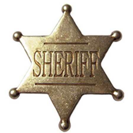 Denix Old West Replica Six Point Ball Tip Star Badge ()