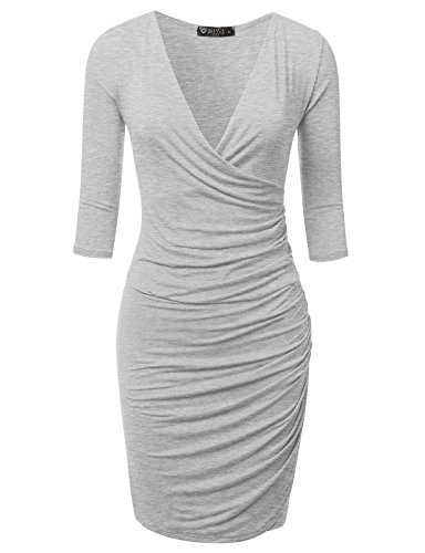Ruched Surplice Dress - 7
