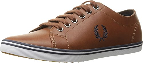 Fred Perry Kingston Leather Sneaker, Tan, 9 D UK (10 (Best Fred Perry Mens Sneakers)