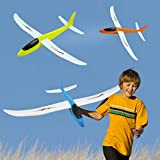 Ranoff DIY Coating Foam Hand Launch Throwing Aircraft Airplane Glider DIY Plane Toy Gift to 4-14 Years Christmas,Thanksgiving, Halloween and Easter (Blue)