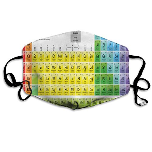Anti Dust Mask Printable Periodic Tables for Chemistry Cotton Mouth Mask Winter Healthy Washable for Women Halloween