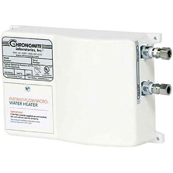 Chronomite M-30L/120 HTR 120F 120-Volt 30-Amp Instant-Flow Micro Low Flow Tankless Water Heater, 120-Degree Preset