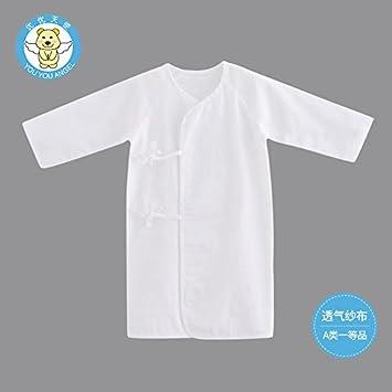 KK&MM Pijamas de bebé primavera y verano gasa delgada sección ropa recién nacido pijamas de algodón