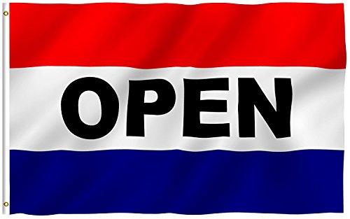 G128 - Open Sign Flag 3x5 ft New