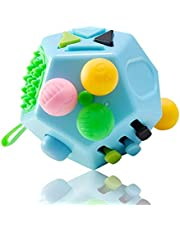 JIAOJIEB 12 Sided Creative Puzzle Toy Stress Relieve Dice Anti-anxiety Anti Stress Cube Toy And Anxiety Relief Depression Adult Kids Toy Decompression Toys Decompression toys (Color : LAN B3)