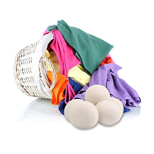 OrliverHL Reusable 1 PC Wool Tumble Dryer Balls, Handmade Premium Wool Laundry Drying Balls, Hypoallergenic Natural Fabric Softener, Anti-Static with …