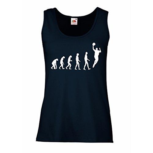 触手ここに持つ女性ノースリーブタンク進化バスケットボール