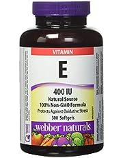 Webber natural Webber Naturals Vitamin E Natural 400IU (300 Softgels), 300 Count