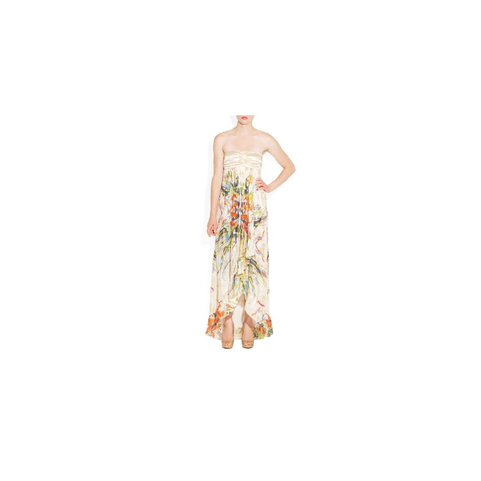 Nicole Miller Floral Strapless Dress (6)