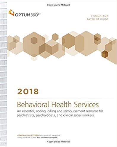 Coding And Payment Guide For Behavioral Health Services 2018