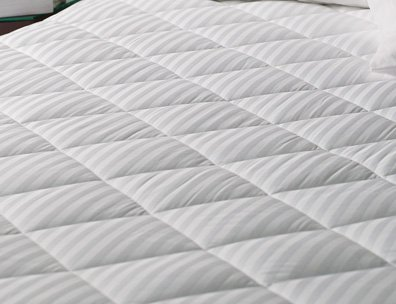 Elegant Linen Luxurious 350-thread Count Down Alternative, Super Plush Ultimate Damask Quilted Mattress Pad (Twin X-Long 39