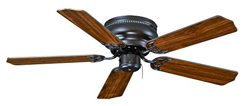 Hugger Transitional Ceiling Fan - Royal Pacific Lighting 1063OB Traditional Royal Knight Hugger II 5 Blade Transitional Ceiling Fan, 42