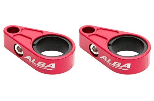 Honda ATV Billet Brake Line Clamps for Aftermarket Brakelines Red (Pair-Set of 2) (6 color options) (Honda Aftermarket Accessories)