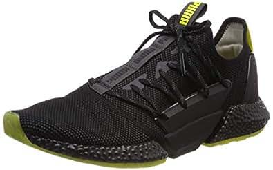 PUMA Men's Hybrid Rocket Runner Sneaker, Asphalt-puma Black-Blazing Yellow, 7.5 US