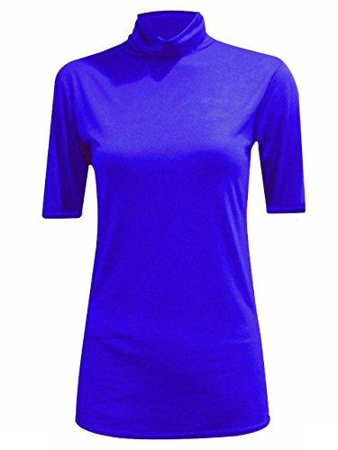 JAVOX Fashion's - Camiseta - para mujer azul real