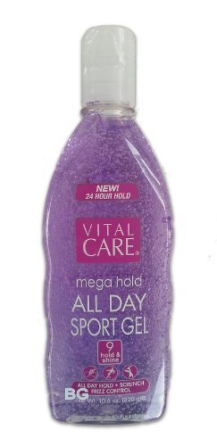 Vital Care MEGA HOLD Spiking Hair Gel Super Hold All Day Non Sticky 10.6 oz. (4 Pack)... iwgl