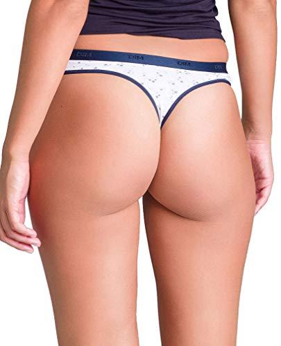 Femme De Elástico Pockets Estampado String Dim Bleu Algodón 6of estampado Les 3 lot xU8A1