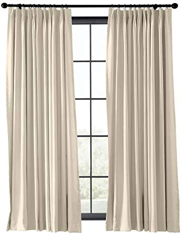 TWOPAGES Blackout Thermal Insulated Pinch Pleat Curtain