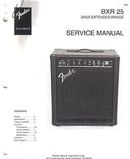 fender bxr 25 bass extended range amp amplifier service manual rh amazon com Voice Amplifier Voice Amplifier