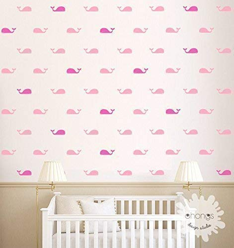 3 colors whales//gift 60 Whales Sticker//Kids Room Wall Decal//Home Decor//Nursery Wall Decal A room with Whales//Whale Wall Decal//Fish Wall Decal
