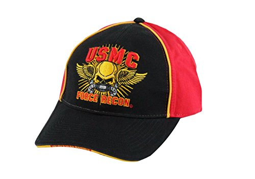 Marine Recon Cap (Capsmith USMC Force Recon United States Marine Corp. Embroidered Cap One Size Black)