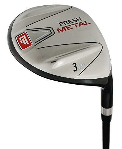 Founders Club Fresh Metal # 3 Fairway Wood with Regular Flex Graphite Shaft and Head Cover (15 Degrees, Regular)