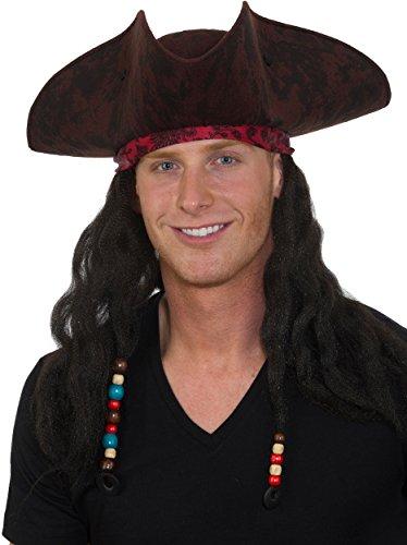Jacobson Hat Company Men's Caribbean Pirate Braids, Brown, Adjustable -