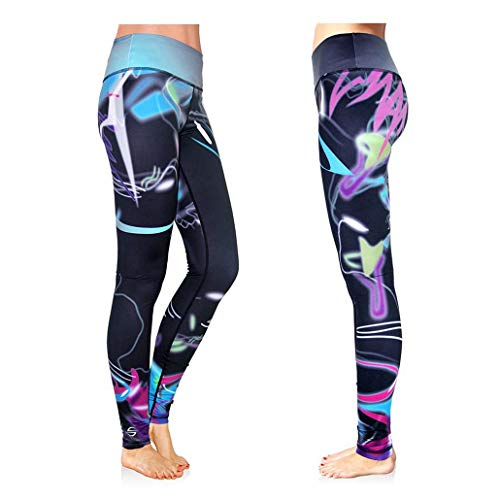 Platinum Sun Swim Legging for Women Sunproof Pants Tights with Designs UPF 50+ - Mystica - M (Surf Skin Pant)