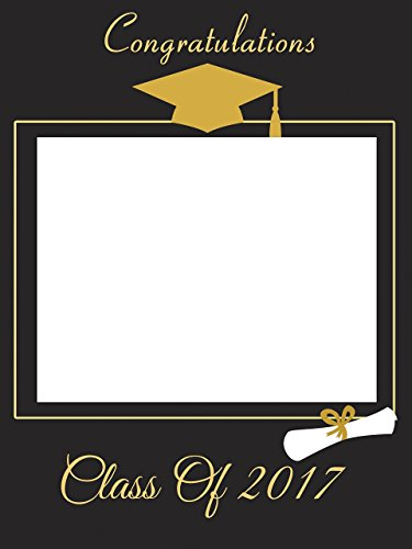 Custom Home Décor Graduation Photo Booth Frame Prop - Size 36x24, 48x36; Personalized College or University Degree Student Hat & Diploma Roll Photo Frame - Handmade DIY Party Supply Photo Booth Props (House Picture First Frame)