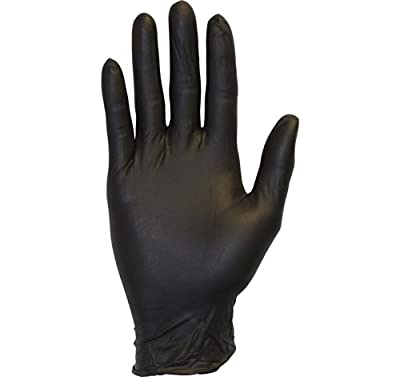 Black Nitrile Exam Gloves - Medical Grade, Disposable, Powder Free, Latex Rubber Free, Heavy Duty, Textured, Non Sterile, Work, Medical, Food Safe, Cleaning, Wholesale