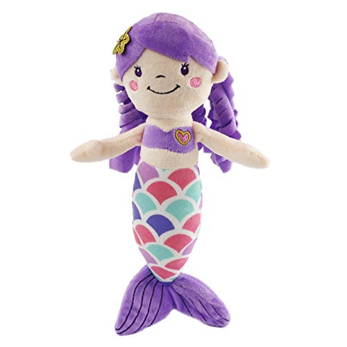 Soft Stuffed Doll Toy - Athoinsu Mermaid Princess Stuffed Animals Soft Plush Doll Kids' Festival Gifts, 12'' (Purple)