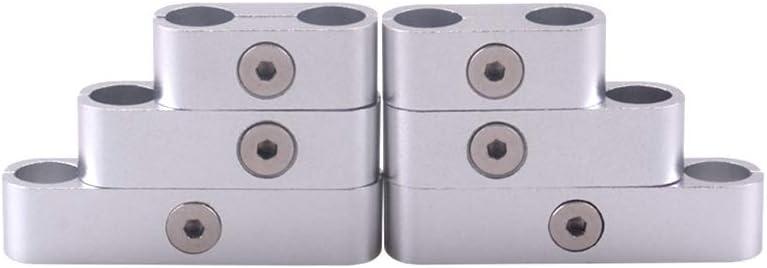 KKmoon 12 PCS SBC 350 Spark Plug Wire Separators Dividers Looms CNC Premium Quality Aluminum Alloy Suits 7mm 8mm 9.5mm Black