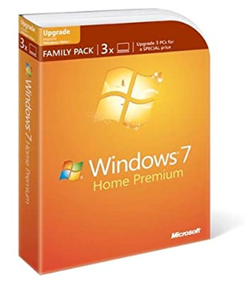 Microsoft Windows 7 Home Premium Upgrade Family Pack (3-User) [Old Version]