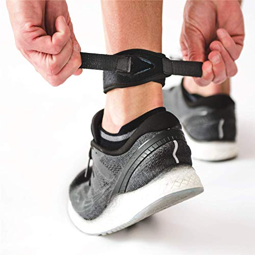 CROSSTRAP Achilles Strap by MDUB Medical Prevent Achilles Tendonitis Running, Cycling, Hiking, Outdoor Sports (Black, 1 Pack Small)