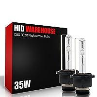 HID-Warehouse One Pair (2) D2C D2R D2S 6000K Xenon HID Diamond-White Bulbs 35W