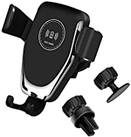 Fast Wireless Car Charger Mount,Gravity Sensing Phone Holder 7.5W Compatible with Apple iPhone 11/11 Pro/11 Pro Max/XR/XS...