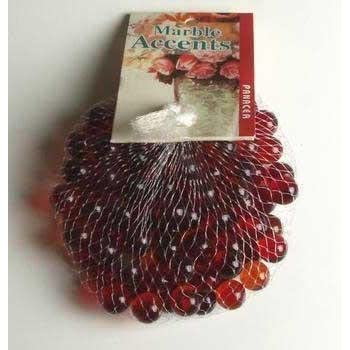 Amazon Com Red Glass Marbles 100 Count Per Order 1 2