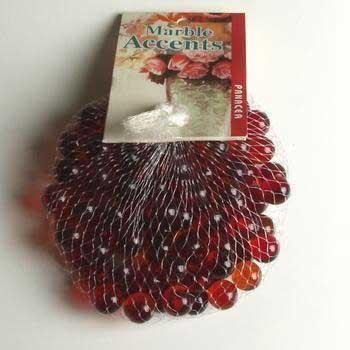 - Red Glass Marbles, 100 Count Per Order, 1/2