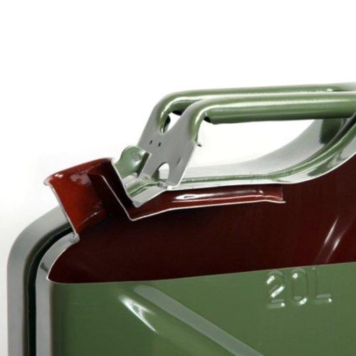 2x Oxid7® Benzinkanister Kraftstoffkanister Metall 20 Liter Olivgrün mit UN-Zulassung - TÜV Rheinland Zertifiziert - Bauart geprüft 4052704053468
