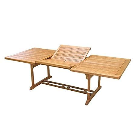 Tavoli In Legno Da Giardino Allungabili.Tavolo Da Giardino Allungabile Esterno In Legno 100x180 Amazon It