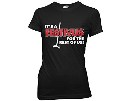 Ripple Junction Seinfeld It's a Festivus for The Rest of Us Juniors T-Shirt Medium Black (Festivus For The Rest Of Us Shirt)