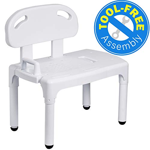 Bathtub and Shower Transfer Bench Chair with Exact Level Patented Heig