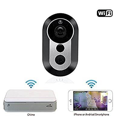 Jinvoo Wifi Wireless Doorbell Doorbell With Security Camera,Motion Detection, iOS & Android App, HD Video